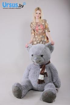Большой серый мишка Доминик - купить медведя в интернет-магазине можно тут!