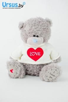 Тедди в белой кофте
